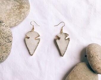 Crystal arrowhead earrings
