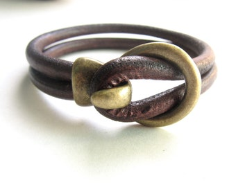 Mens Leather Bracelet,Leather Bracelet,Mens Bracelet,Mens Braclet,Mens Leather Braclet,Men Bracelet,Leather Bracelet Men,Brown Leather,Gift