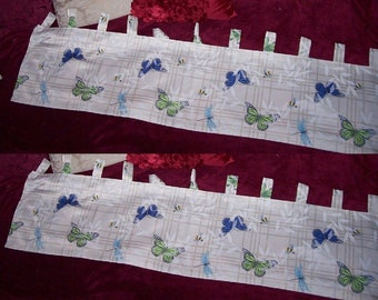 2 pc Spring SUMMER Butterfly VALANCE Spring 13 x 53 in NEW