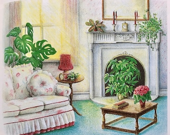 Houseplant Book, Vintage:  Flowering, Foliage, & Specialist Plants and Care