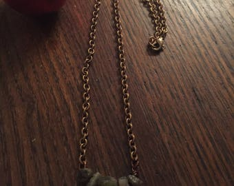 necklace,raw tourmaline, accessories,chain necklace,