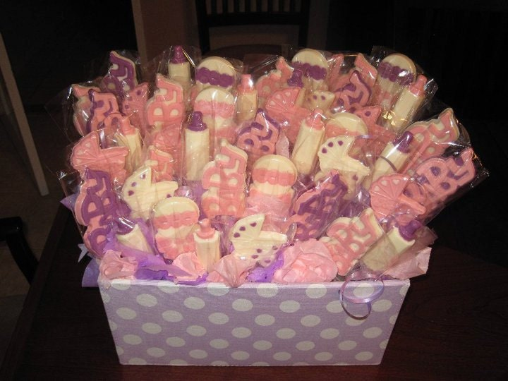 Shower Chocolate Lollipops Custom Baby Shower Centerpiece And Baby