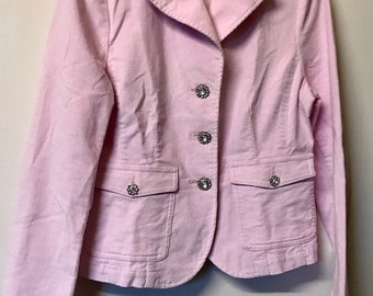 Baby Pink Stretch Cord Jacket