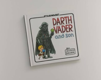 Darth Vader and Son Notebook - Handmade from a book - star wars - father's Day - diary
