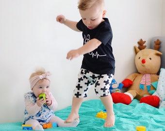 Monochrome Harem Pants, Boy clothes, Baby boy clothes, Boy pants, Baby boy pants, Baby harem pants, boy harem pants, baby shower, gift