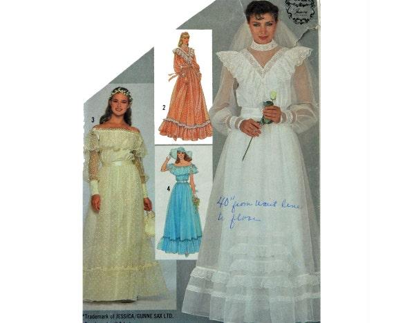Vintage 80s Wedding Dress Pattern Simplicity GUNNE SAX 6361 Off ...