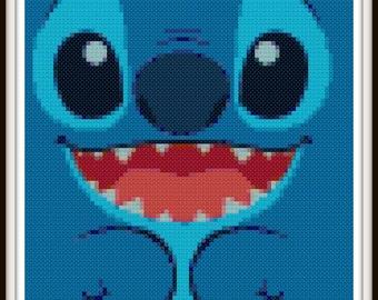 Lilo & Stitch Cross Stitch Pattern - Stitch Cross Stitch - PDF Download