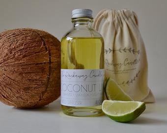 Coconut Lime Reed Diffuser, Natural, Handmade, Organic, Wholesale, Bulk