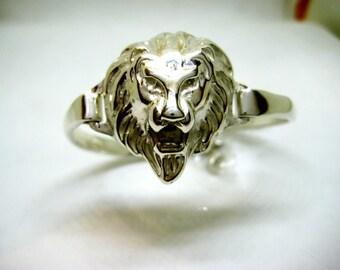 Silver Lion head bracelet 925