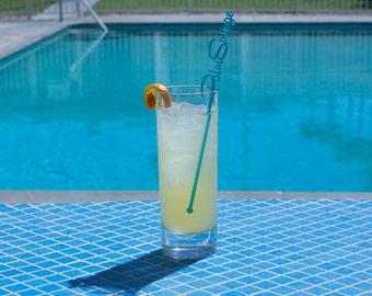 Palm Springs Drink Stirrers - Set of 6 Laser Cut Acrylic Swizzle Sticks