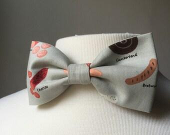 Meat bow tie, Bow tie, pre-tied, adjustable bowtie, gift for men, Mens bowtie