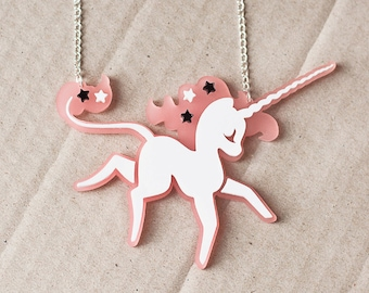 Fairy Tale Unicorn Necklace // Fantasy Unicorn Gift // Gift for Her