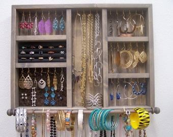 Closet Jewelry Organizer With Bracelet Bar