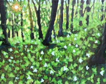 Ephraim Spring Original Acrylic Painting on Canvas