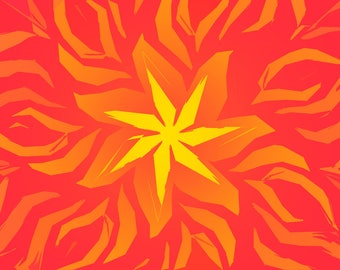 Chinese patterned golden star