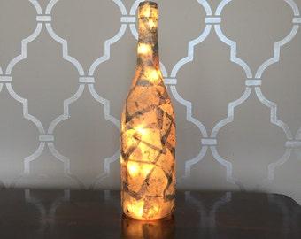 Stone Light Up Wine Bottle