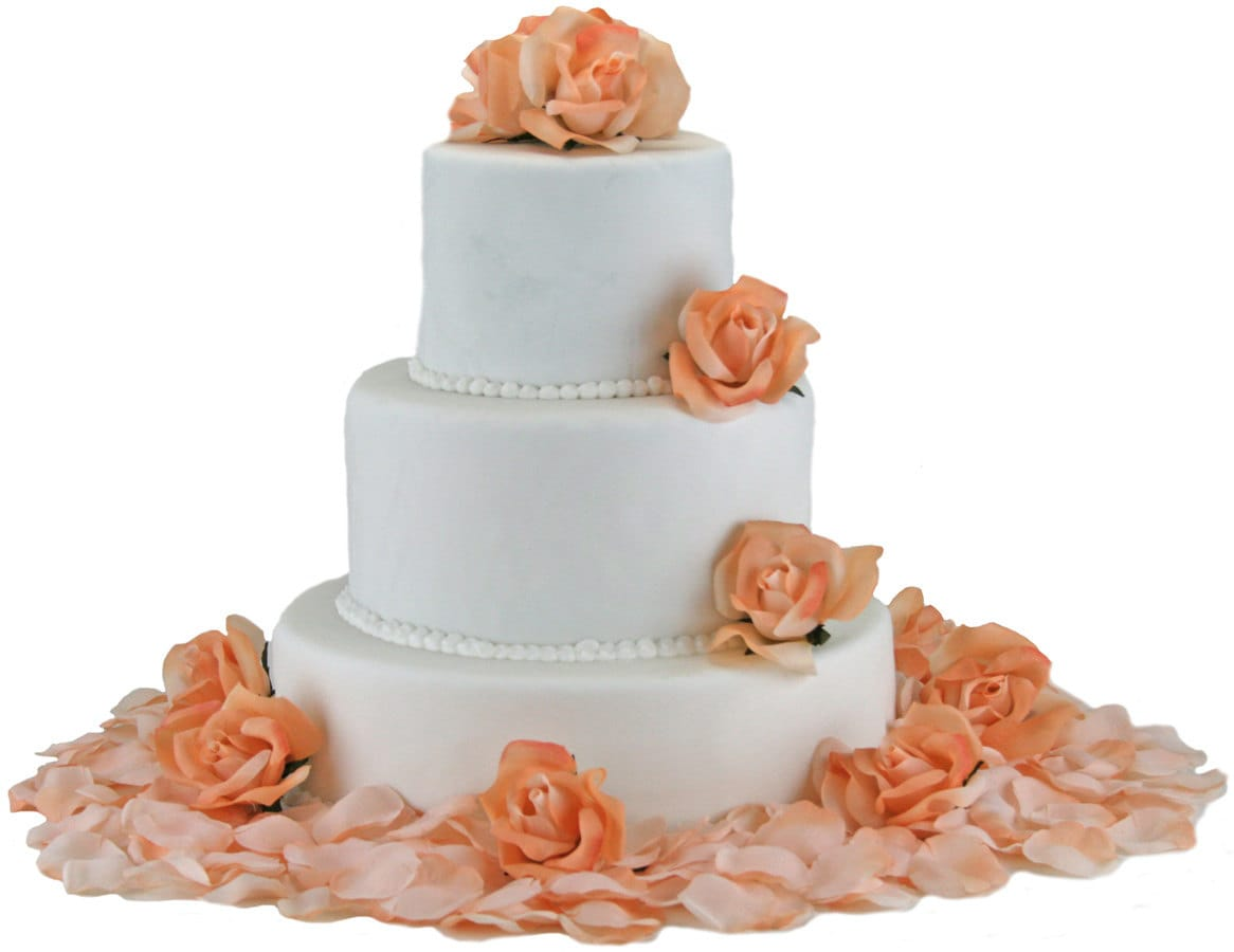 peach wedding cake flowers silk cake flowers 18145