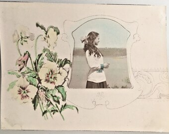 "Vintage Photo ""Young Maria"" Snapshot Antique Black & White Photograph Paper Found Ephemera Vernacular Interior Design Mood - 104"