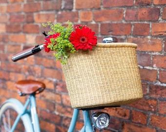 Buli: Handcrafted Natural Oblong Bike Basket