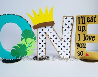 Where The Wild Things Are WILD ONE Letter Set