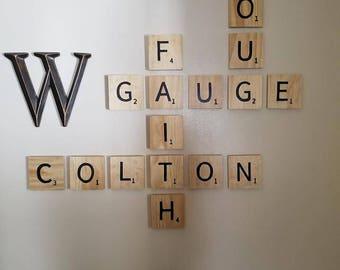 Scrabble Wood Tiles