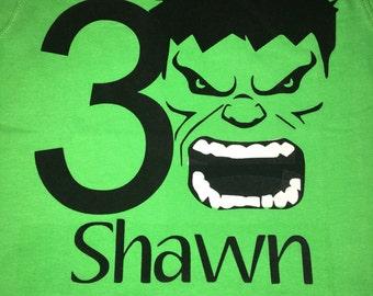 The Hulk birthday Shirt, Hulk, Avengers, boys birthday shirts, Hulk, Birthday shirts for kids, superhero birthday shirts, Superhero shirts