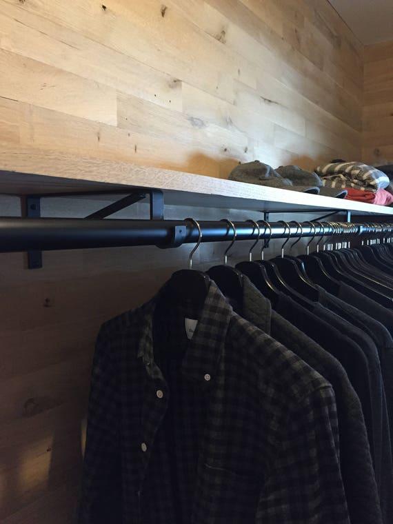 Shelf Wall Bracket Closet Rod Heavy Duty Bracket 1EA Rod