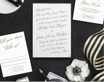 Printable Template | Design Your Own Wedding Invitation Template | Word or Pages | MAC or PC | Editable Artwork Colors - Instant DOWNLOAD