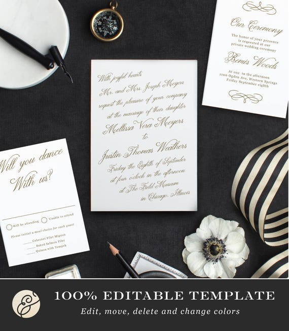 Make Your Own Wedding Invitations Ideas: Printable Template Design Your Own Wedding Invitation