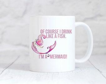 Mermaid Mug, Mermaid Tail, Flower, Mermaid Gift, Mermaid, Mermaid Cup,Mermaid Coffee Mug, Mermaid Coffee Cup, Mermaid Gifts, Gift for Her