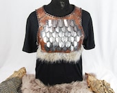 Norse leather gorget with...