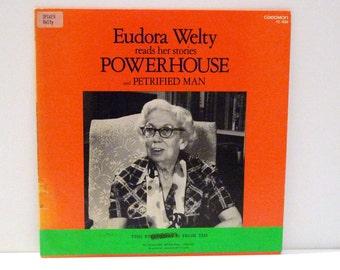 Eudora Welty Reads Stories Vinyl Record 1979 Vintage Powerhouse Petrified Man Spoken Word Album LP Author Writer Photographer Mohawk Music