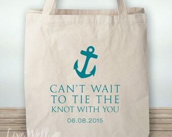 Anchor - Tote - Anchor Tote - Beach Wedding - Anchor Wedding - Personalized Wedding Gift - Custom Wedding Gift - Wedding Favor - Custom Gift