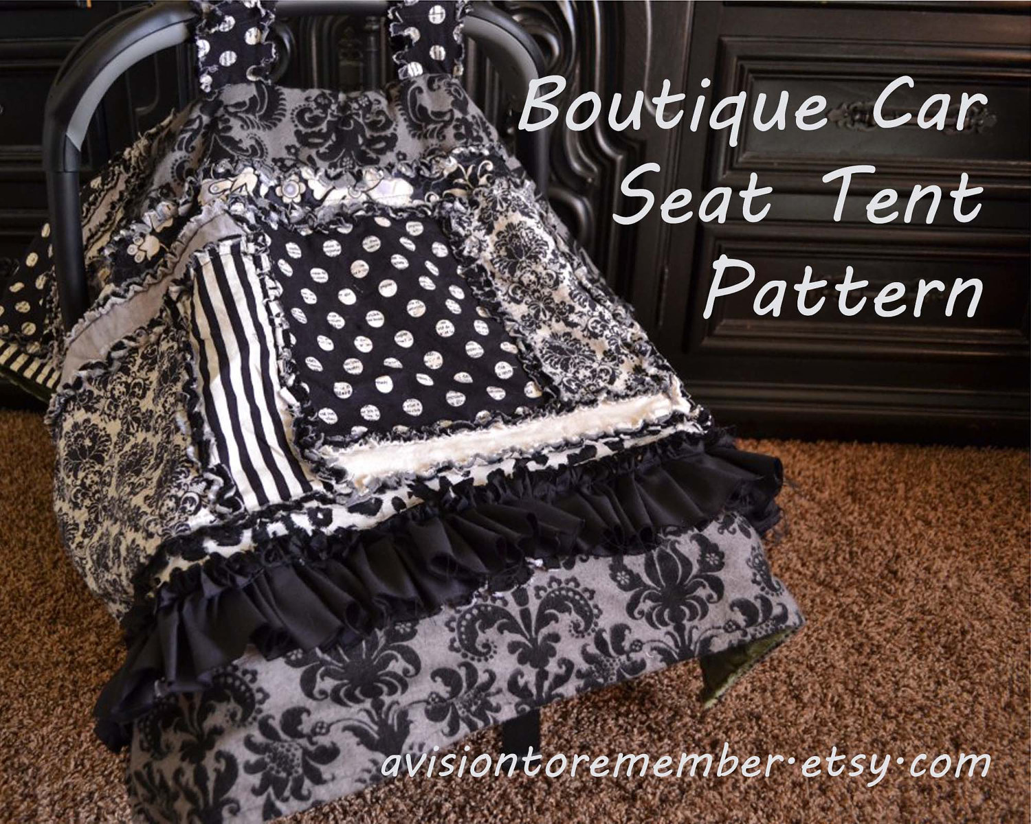 Boutique car seat canopy pattern baby sewing pattern rag zoom jeuxipadfo Gallery