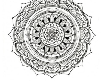 Adult Coloring Printable Download Mandala Pages Art Therapy Colouring Pages