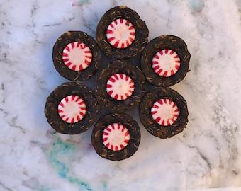 Mini mint muffins