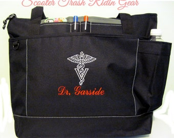 Free Shipping - Vet Veterinarian Veterinary Tech Personalized Stethoscope Tote Bag - More Colors - monogrammed