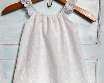 Boho Washed Cotton Flower Girl Dress | Simple Flower Girl Dress | Flower Girl Dress | Boho Dress | Photo Shoot Dress | Ellie Ann and Lucy