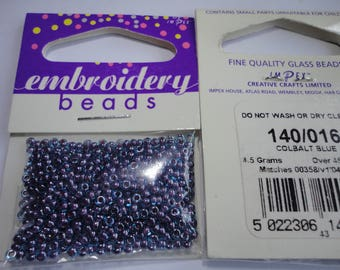 seed fine embroidery (016) 2mm cobalt blue