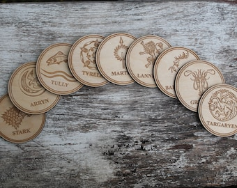 Game of Thrones coasters - set of 9 coasters