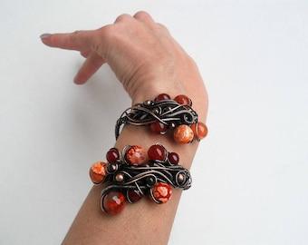 Wire bracelet Unique cuff bracelet Wire cuff bracelet Statement cuff bracelet Statement jewelry Wire wrap bracelet Copper wire bracelet