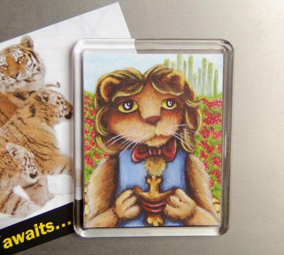 Cowardly Lion Magnet, Wonderful Wizard of Oz Emerald City Fridge Magnet