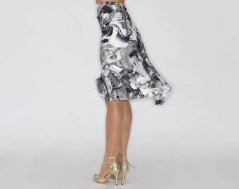 TROILO Swinging Flow Tango Skirt in Marble Print