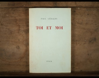Paul GERALDY / you and me / editions Stock Paris 1961