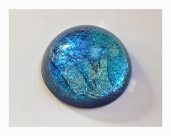 Ornamental Paperweight with original art Water Music in shimmering blues