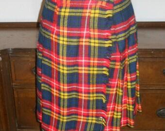 Vintage Plaid Pleated Kilt Skirt ~ 1970's Joanna by Barakett  Plaid Skirt ~ Tartan Plaid Kilt Style Pleated Skirt ~ Pleated Skirt ~