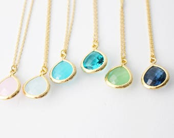 CLEARANCE 40% OFF - Drop Crystal Necklace // Crystal Necklace