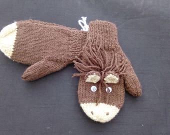 Children's Character/Animal Mittens - Donkeys