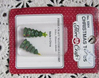 Tiny plastic Christmas Trees (set of 2)