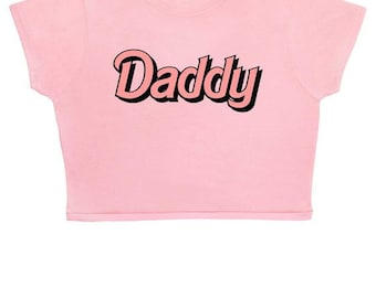 FREE UK Shipping Daddy ∘ Crop Top ∘ Kawaii ∘ Crybaby ∘ Baby Girl ∘ Grunge ∘ Baby Pink Blue ∘ Womens Ladies ∘ S M L XL 2XL